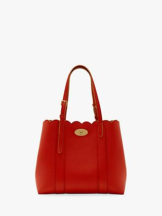 Mulberry Scalloped Bayswater Small Classic Grain Leather Tote Bag