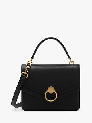 Mulberry Harlow Classic Grain Leather Satchel Bag