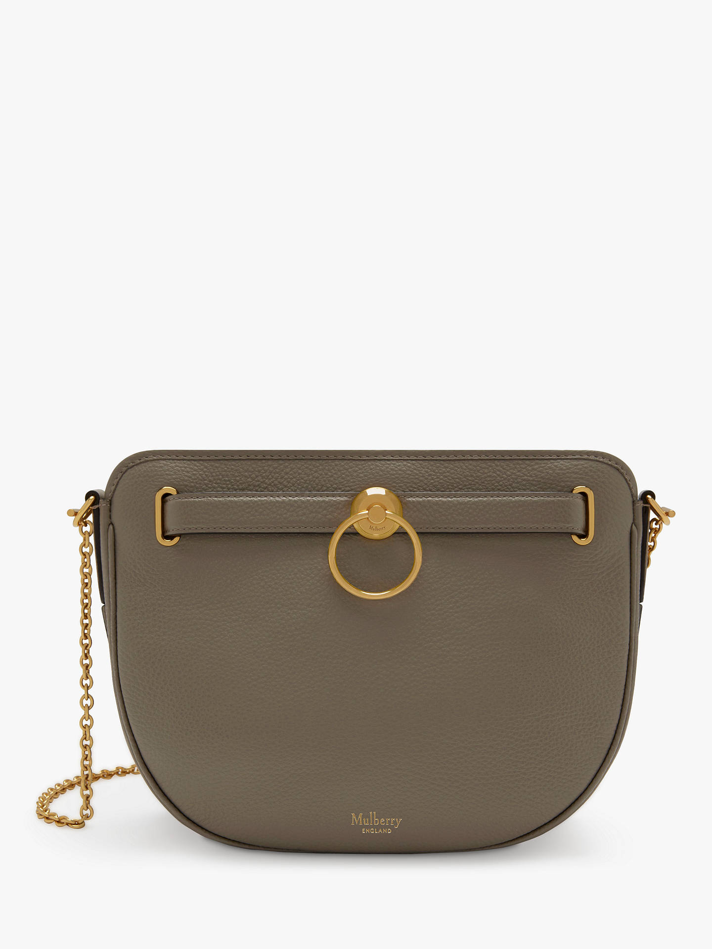 Mulberry Brockwell Small Classic Grain Leather Satchel Bag at John ... 619af96c40e9d