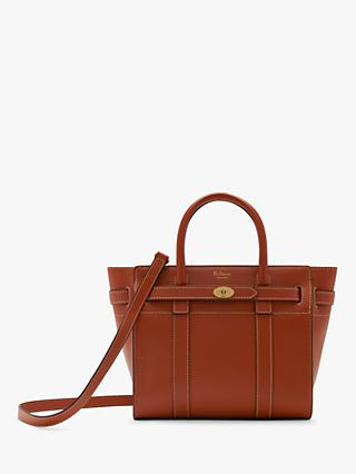 Mulberry Mini Bayswater Zipped Silk Calf s Leather Tote Bag