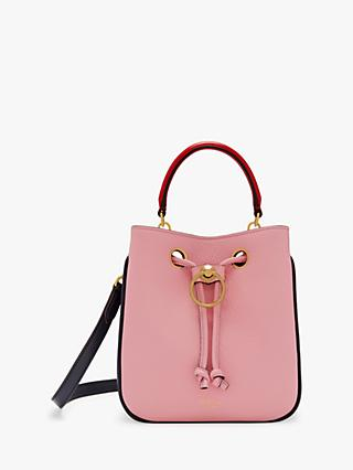 Mulberry Small Hampstead Piped Classic Grain Leather Shoulder Bag, Sorbet Pink