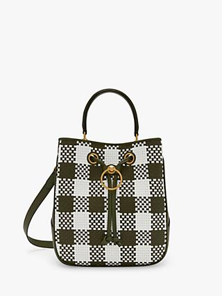 Mulberry Hampstead Woven Leather Shoulder Bag