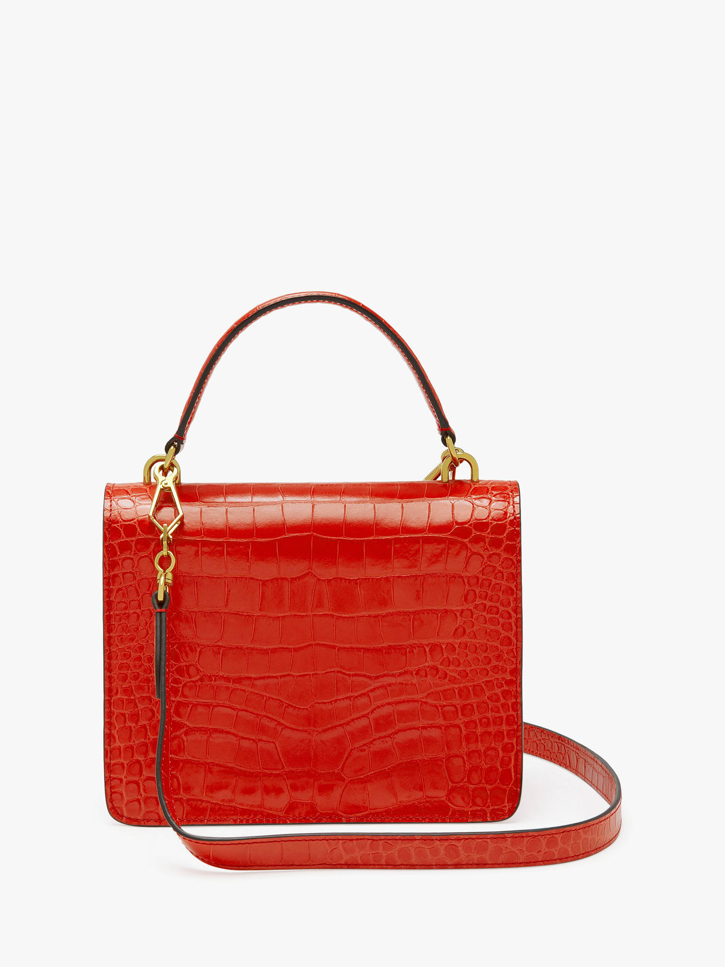 28469a04d146 Mulberry Harlow Croc Embossed Leather Satchel Bag at John Lewis ...