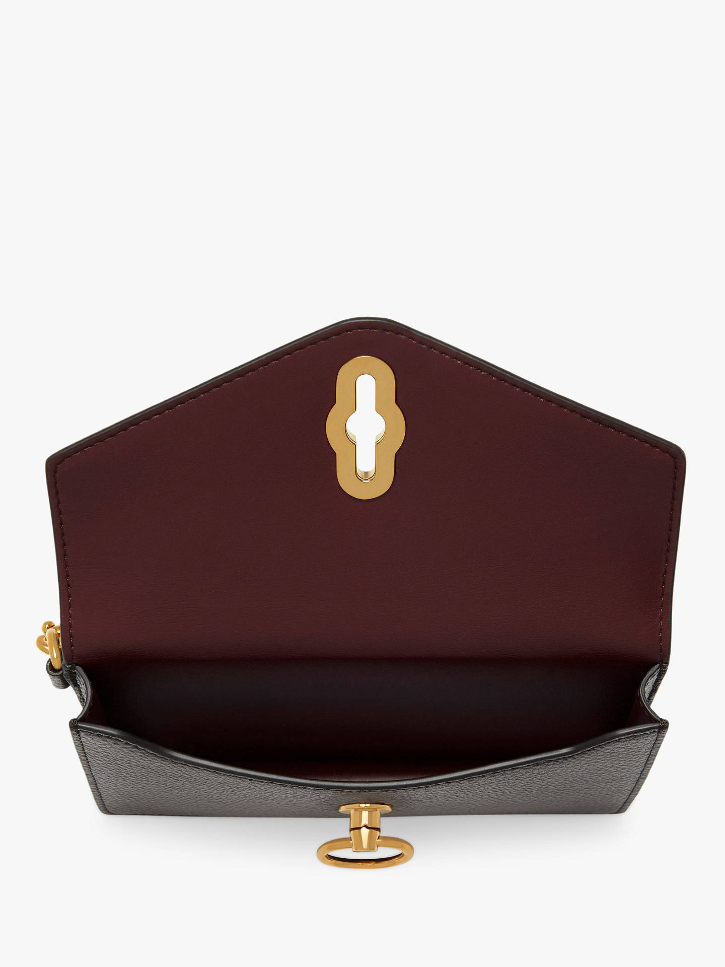 02b58c806 Buy Mulberry Amberley Small Classic Grain Leather Phone Clutch Purse, Black  Online at johnlewis.