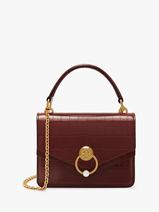 a48f5f270e Mulberry Small Harlow Croc Embossed Leather Cross Body Bag, Venetian Red
