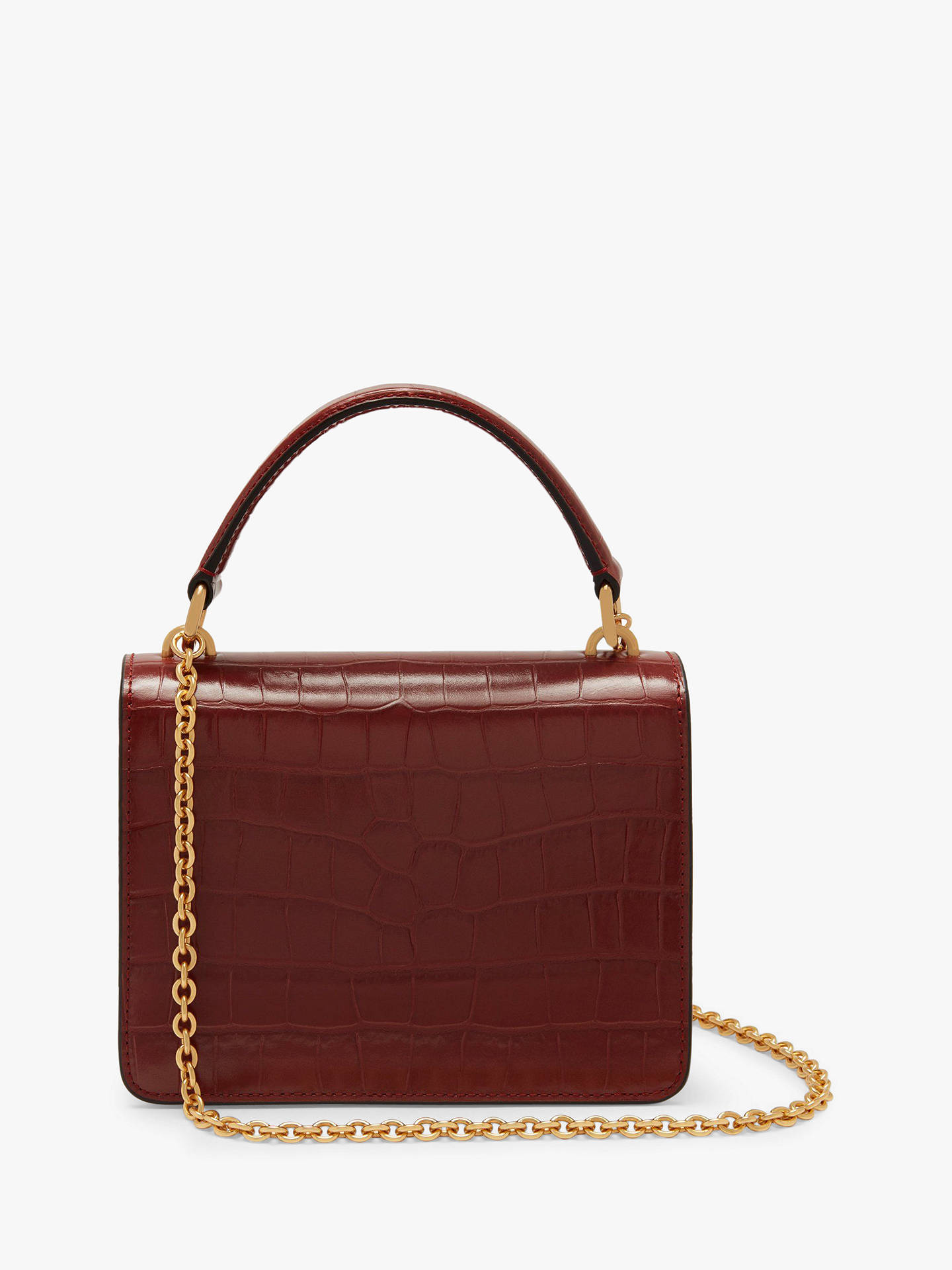 4a8bc30a7 ... Buy Mulberry Small Harlow Croc Embossed Leather Cross Body Bag,  Venetian Red Online at johnlewis ...