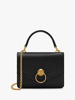 Mulberry Small Harlow Classic Grain Leather Satchel Bag
