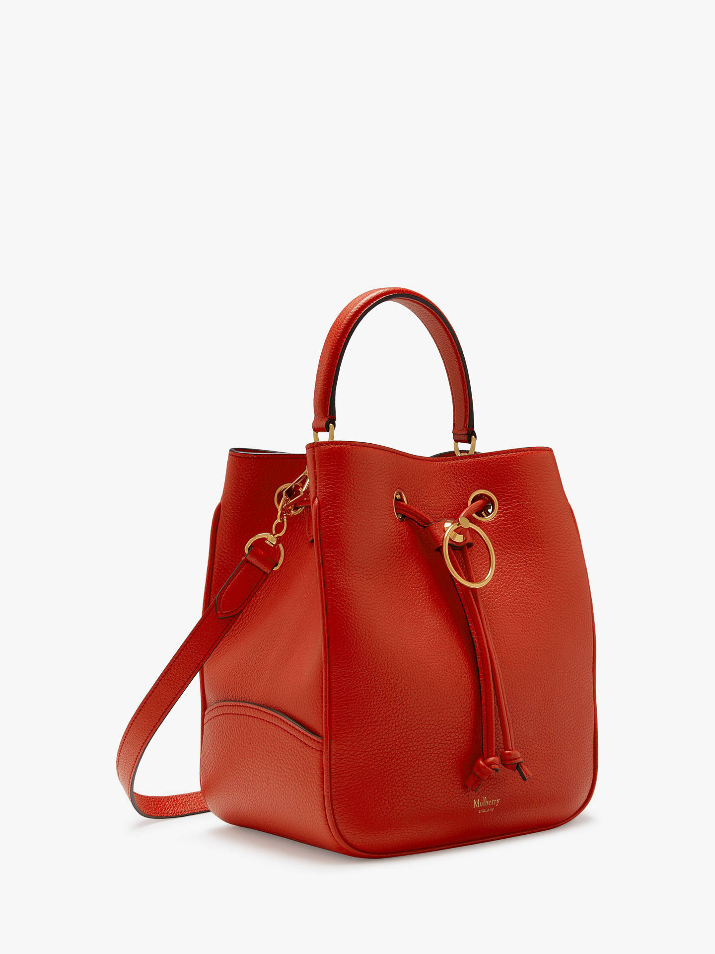 ... BuyMulberry Large Hampstead Classic Grain Leather Shoulder Bag,  Hibiscus Red Online at johnlewis.com ... a8aba88035
