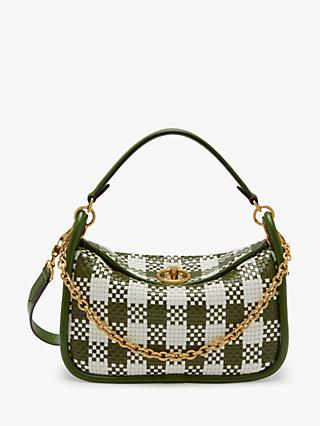 Mulberry Small Leighton Woven Check Leather Shoulder Bag