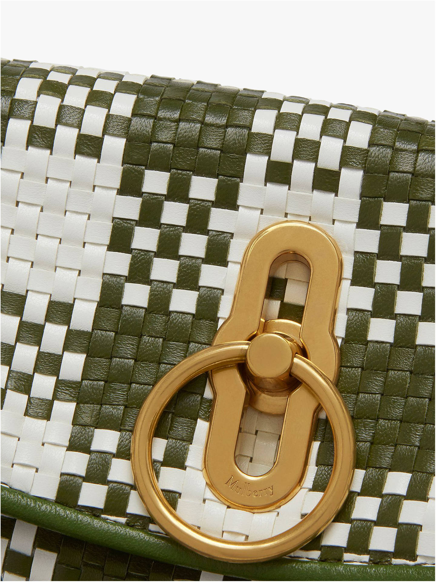 359ef9c9ae2 Buy Mulberry Small Leighton Woven Check Leather Shoulder Bag, Dark Olive  Online at johnlewis.