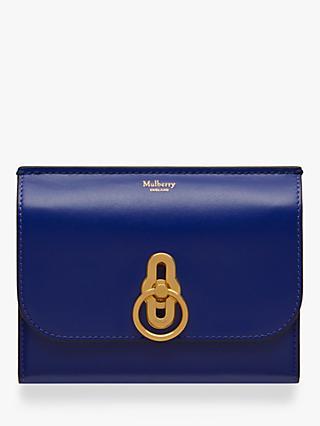 c2414f478fd Mulberry Amberley Small Silky Calf Leather Medium Wallet, Cobalt Blue