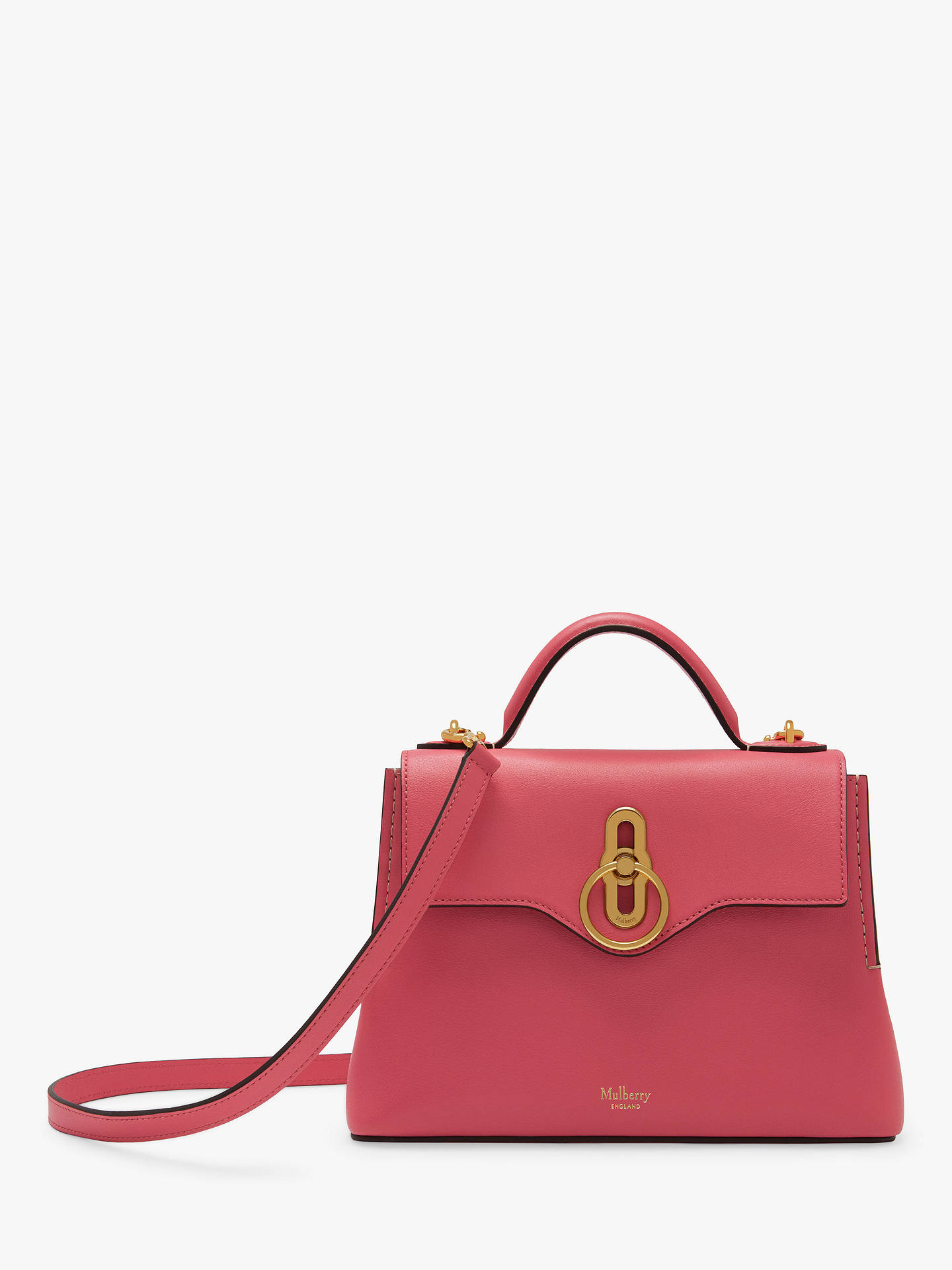 de835e0f5c Buy Mulberry Mini Seaton Silky Calf's Leather Cross Body Bag, Geranium Pink  Online at johnlewis ...