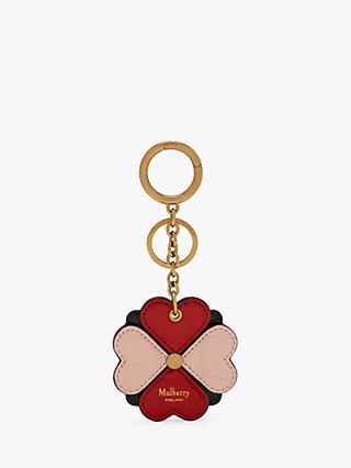 Mulberry Croc Embossed Leather Flower Keyring dfc42070a