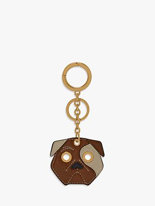 Mulberry Small Classic Grain Leather Dog Keyring, Multi