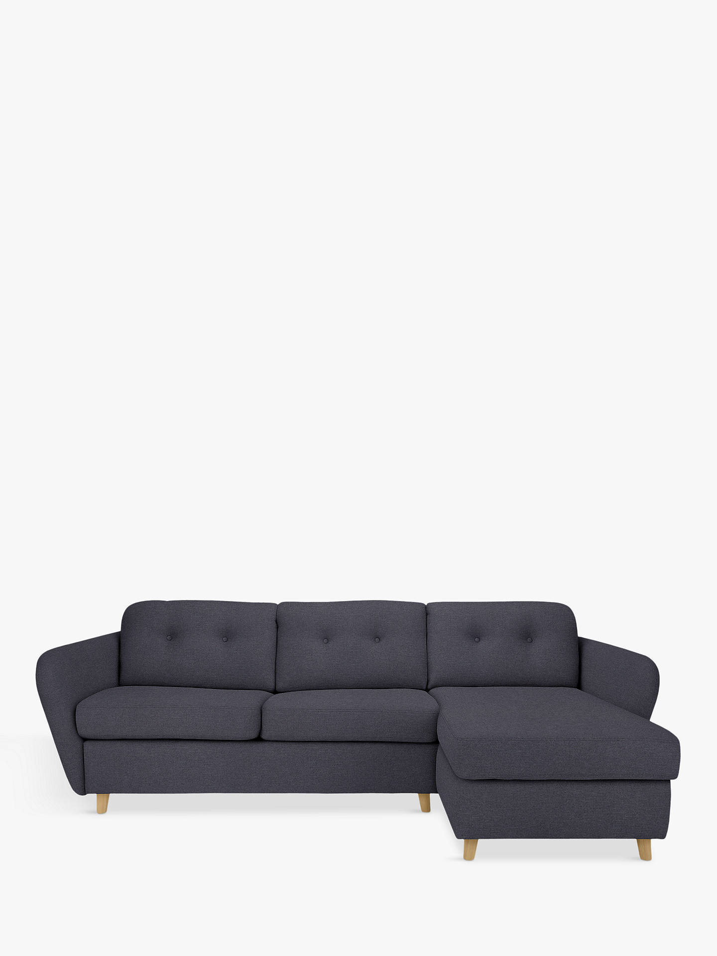 House By John Lewis Arlo Rhf Chaise End Sofa Bed Light