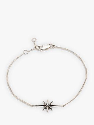 Rachel Jackson London Shooting Star Diamond Chain Bracelet