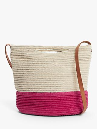 John Lewis & Partners Jute & Cotton Bucket Bag