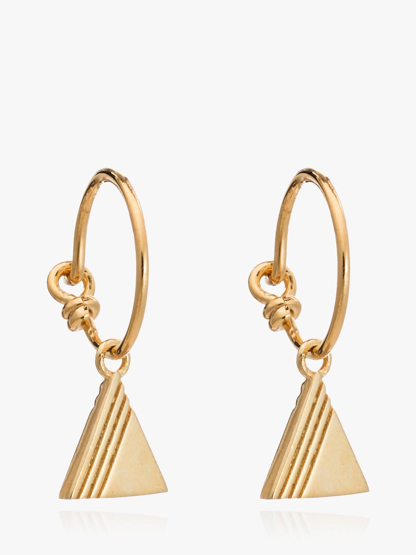 Buy Rachel Jackson London Textured Triangle Hoop Earrings, Gold Online at johnlewis.com