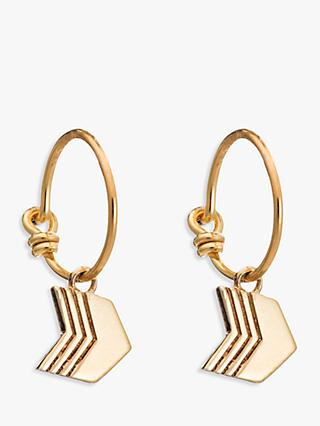 Rachel Jackson London Arrow Hoop Earrings, Gold