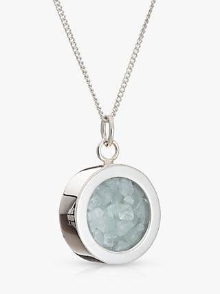 Rachel Jackson London Aquamarine March Birthstone Necklace