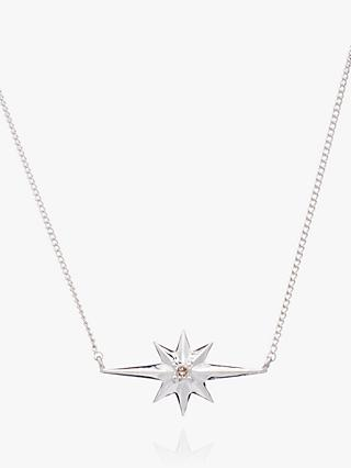 Rachel Jackson London Diamond Shooting Star Chain Necklace