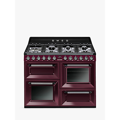 Image of Smeg Victoria TR4110GR 110cm Dual Fuel Range Cooker, A Energy Rating