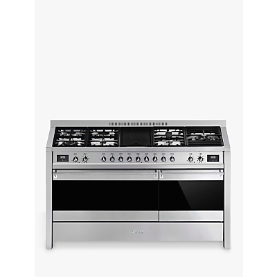 Smeg A5-81 Dual Fuel Range Cooker, A Energy Rating, Stainless Steel