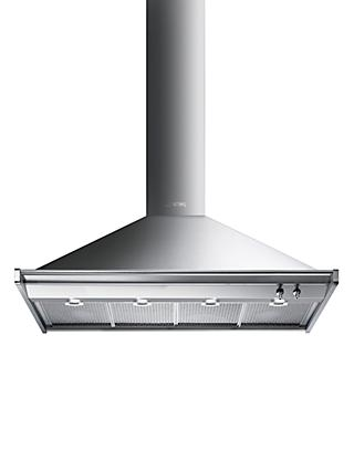 Smeg KD120HXE Chimney Cooker Hood, Stainless Steel