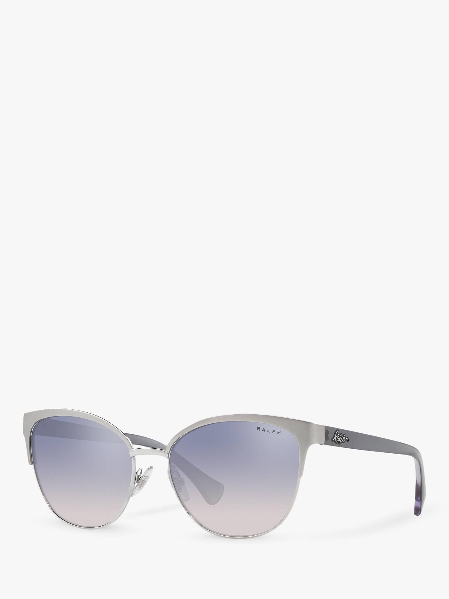 5ad64b374d68 Buy Polo Ralph Lauren RA4127 Women's Butterfly Sunglasses, Silver/Blue  Gradient Online at johnlewis ...