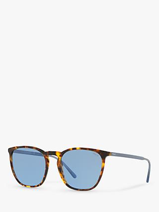Polo Ralph Lauren PH4141 Women's Sunglasses, Antique Tortoise/Blue