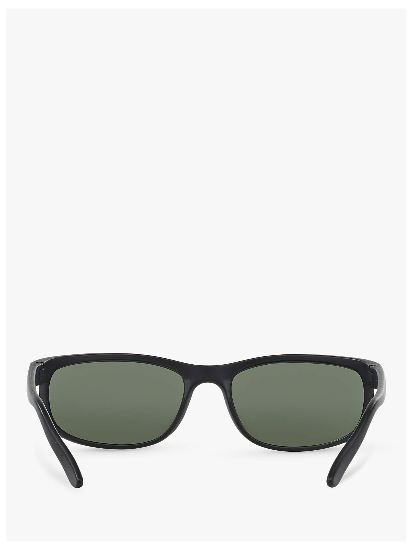 7f52f3665d ... Buy Ray-Ban RB2027 Men's Predator 2 Rectangular Sunglasses, Matte Black/ Green Online ...