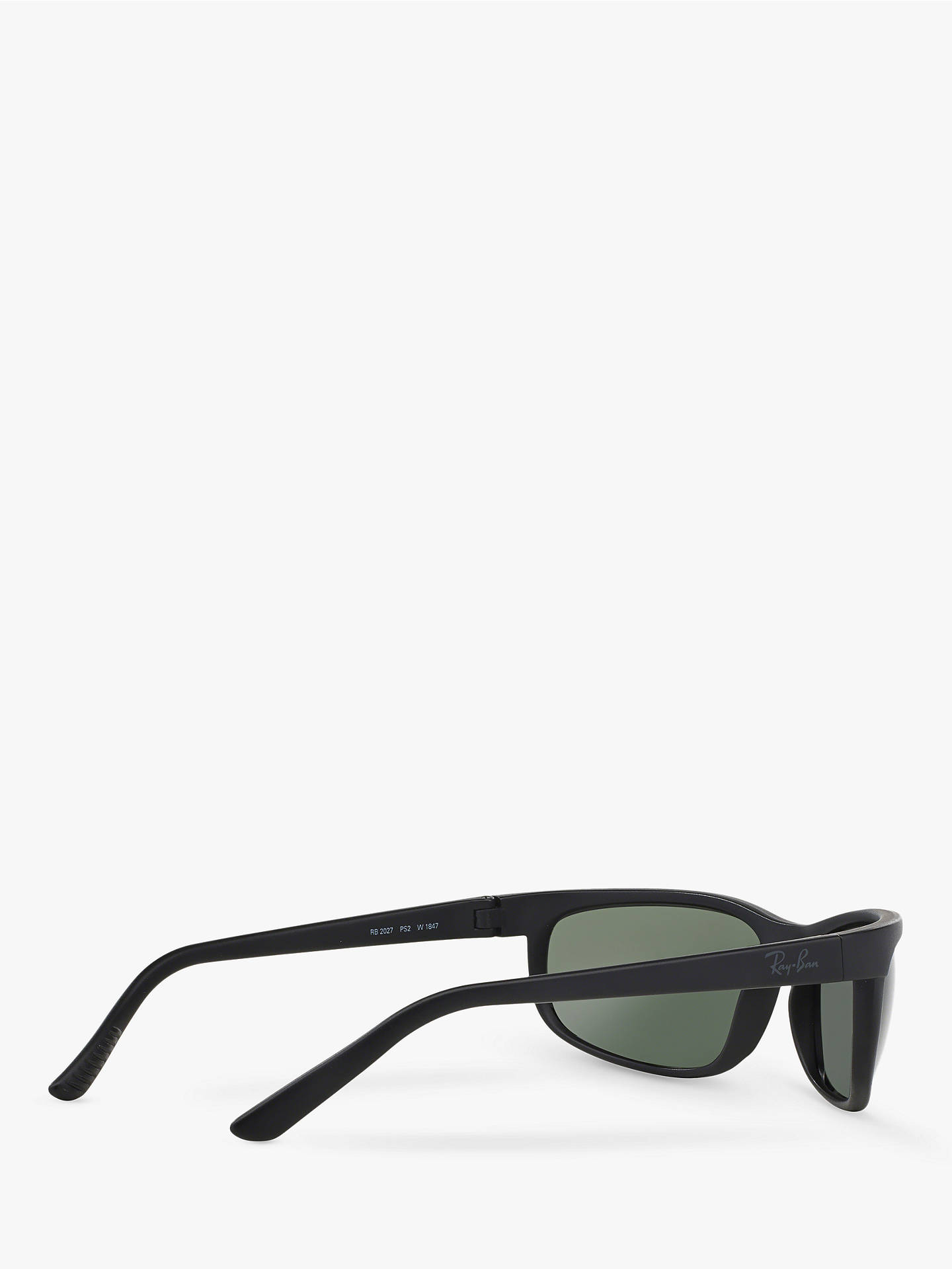 7f52f3665d ... Buy Ray-Ban RB2027 Men's Predator 2 Rectangular Sunglasses, Matte Black/ Green Online ...