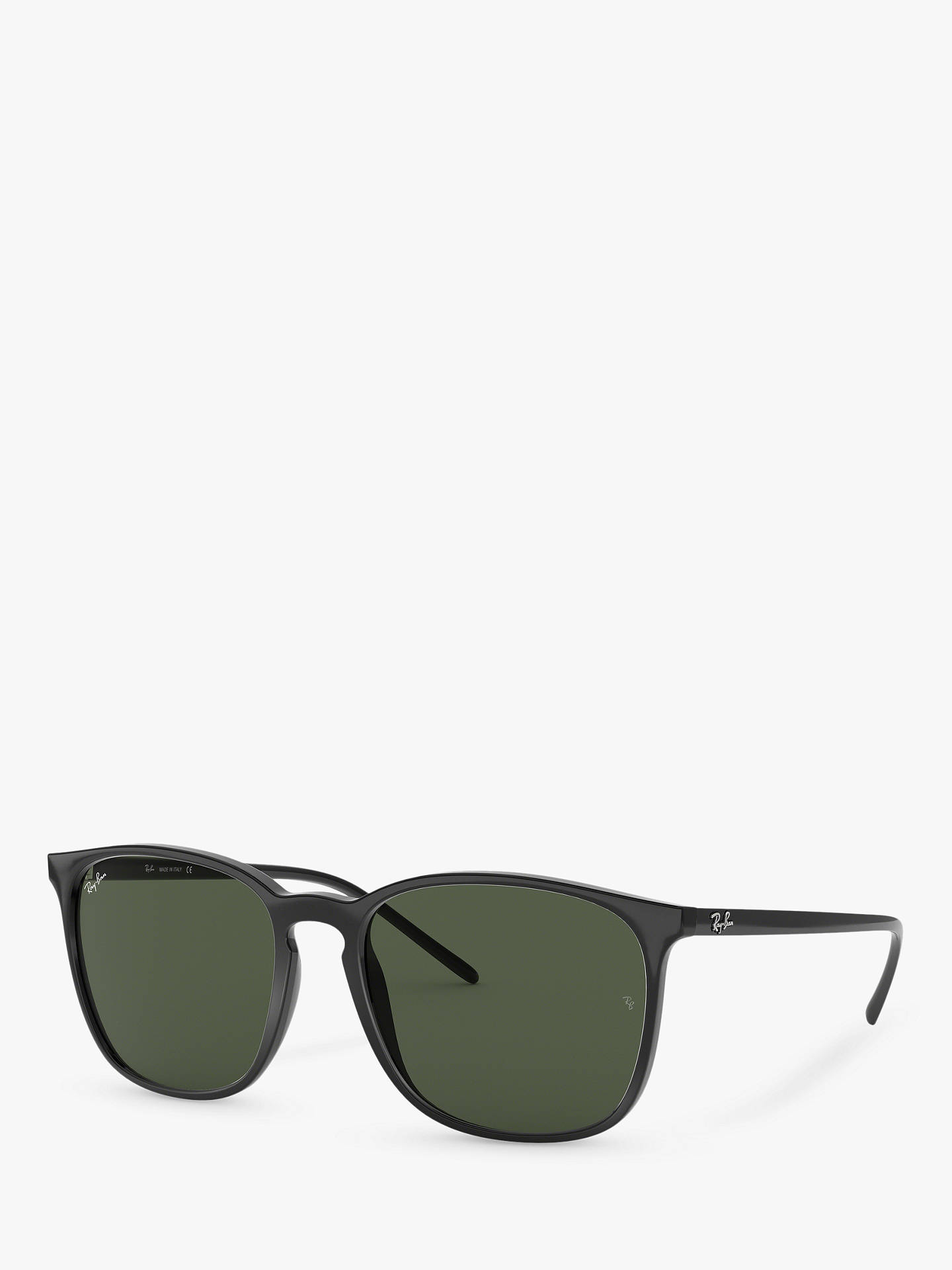 847cf2130013b BuyRay-Ban RB4387 Wayfarer Men s Sunglasses, Black Green Online at  johnlewis. ...