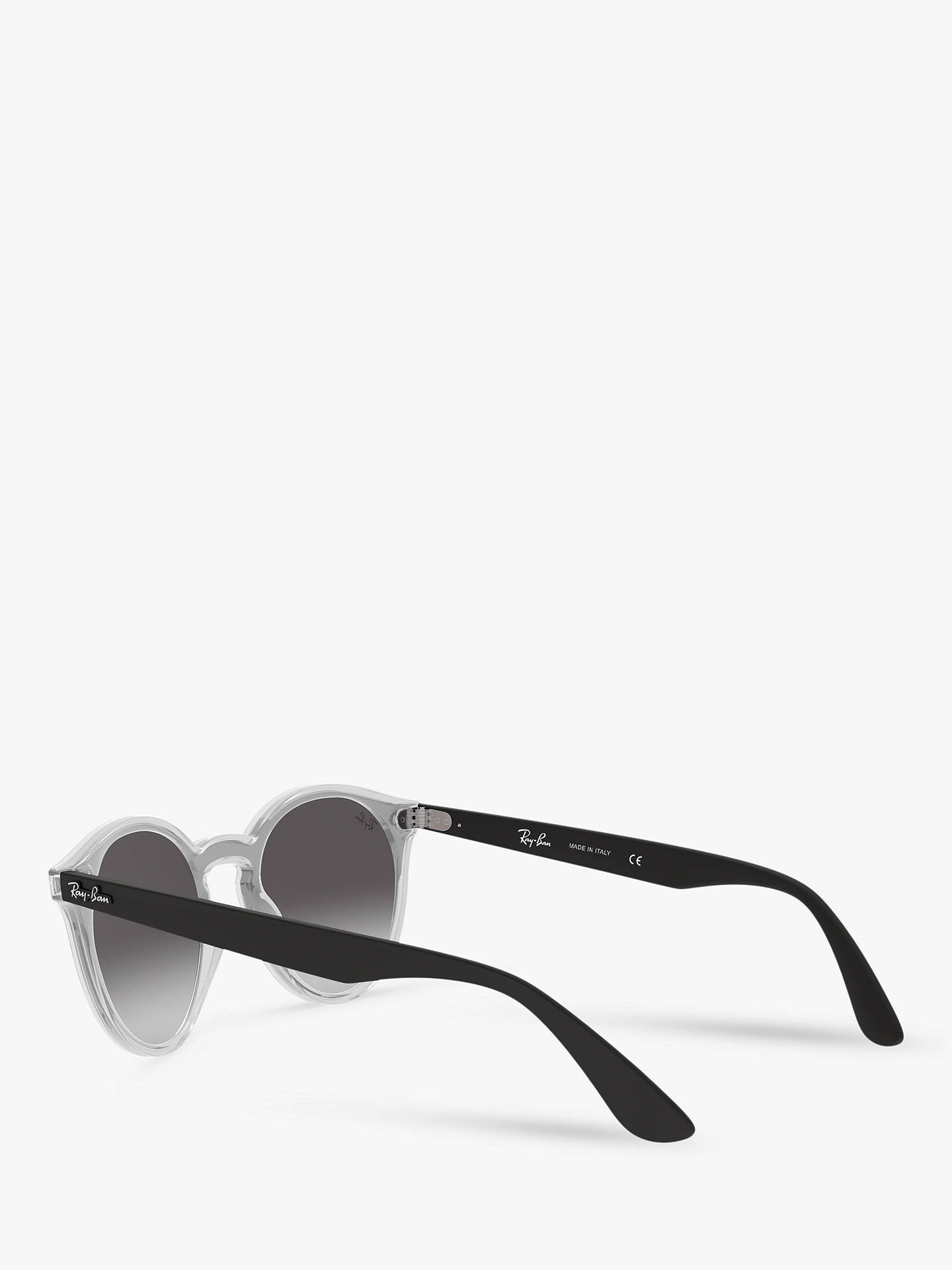 BuyRay-Ban RB4380N Unisex Oval Sunglasses, Black Clear/Mirror Red Online at johnlewis.com