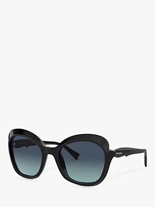 Tiffany & Co TF4154 Women's Square Sunglasses, Black/Blue Gradient