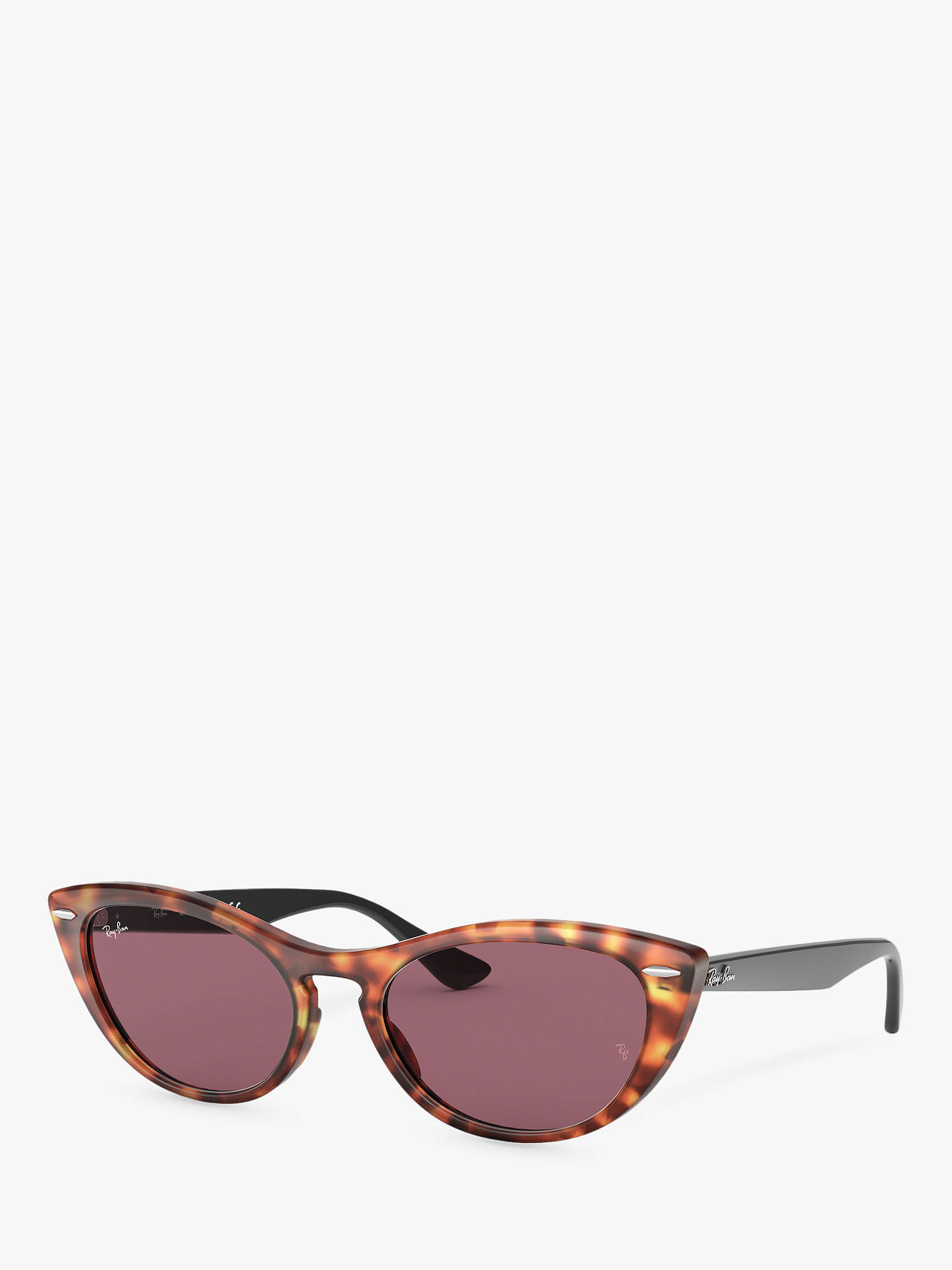 30a4d78b0 Buy Ray-Ban RB4314N Women's Cat's Eye Sunglasses, Havana Red Online at  johnlewis.