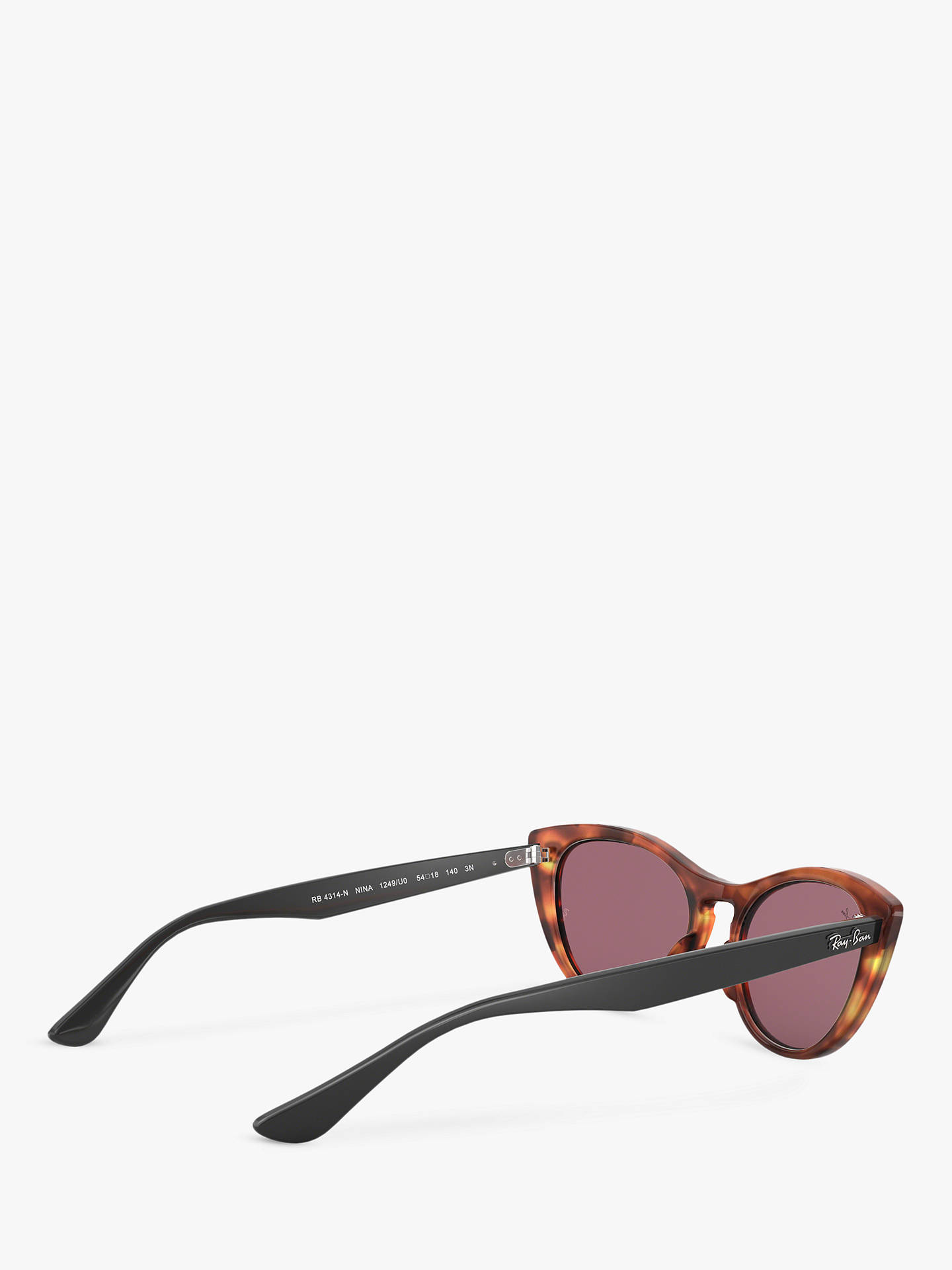 2776aace248e Buy Ray-Ban RB4314N Women's Cat's Eye Sunglasses, Havana Red Online at  johnlewis.
