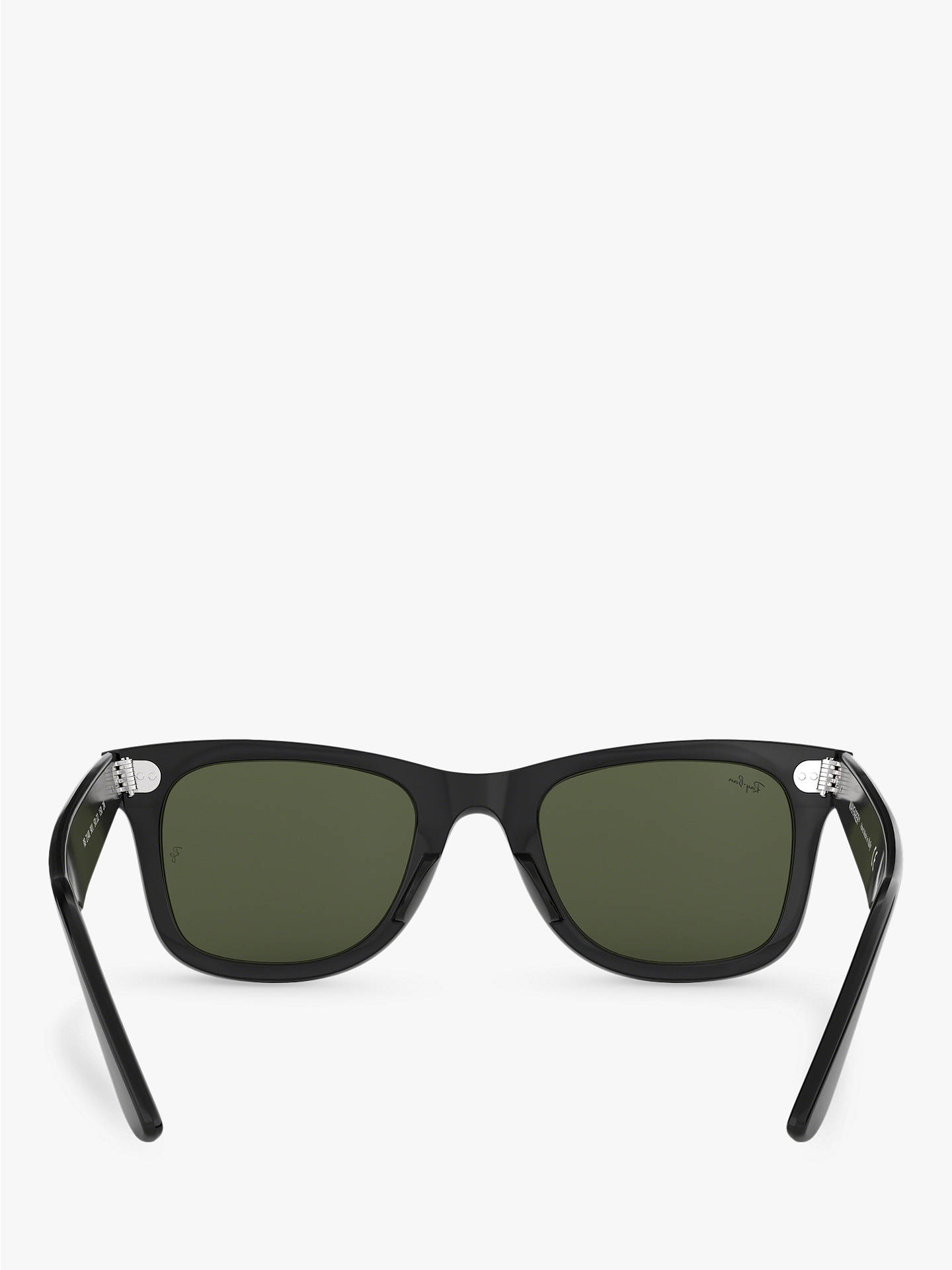 BuyRay-Ban RB2140 Unisex New Wayfarer Sunglasses, Black/Green Online at johnlewis.com