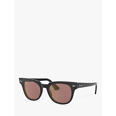 Ray-Ban RB2168 Unisex Polarised Square Sunglasses, Black/Purple