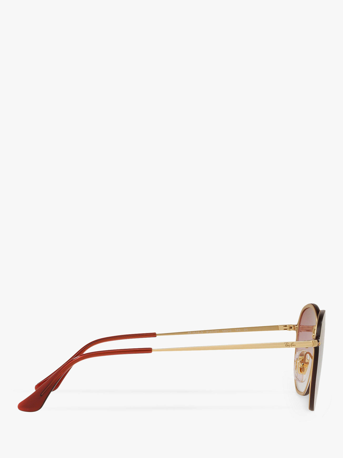 BuyRay-Ban RB3579N Unisex Oval Sunglasses, Gold/Pink Gradient Online at johnlewis.com