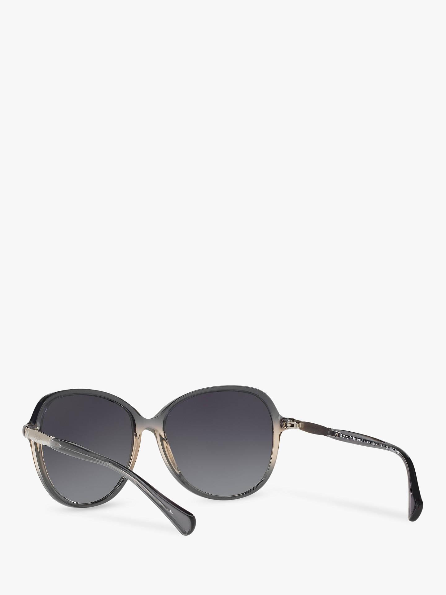 37e75d881b59 ... Buy Ralph RA5220 Women's Polarised Oversize Square Sunglasses,  Smoke/Grey Gradient Online at johnlewis ...
