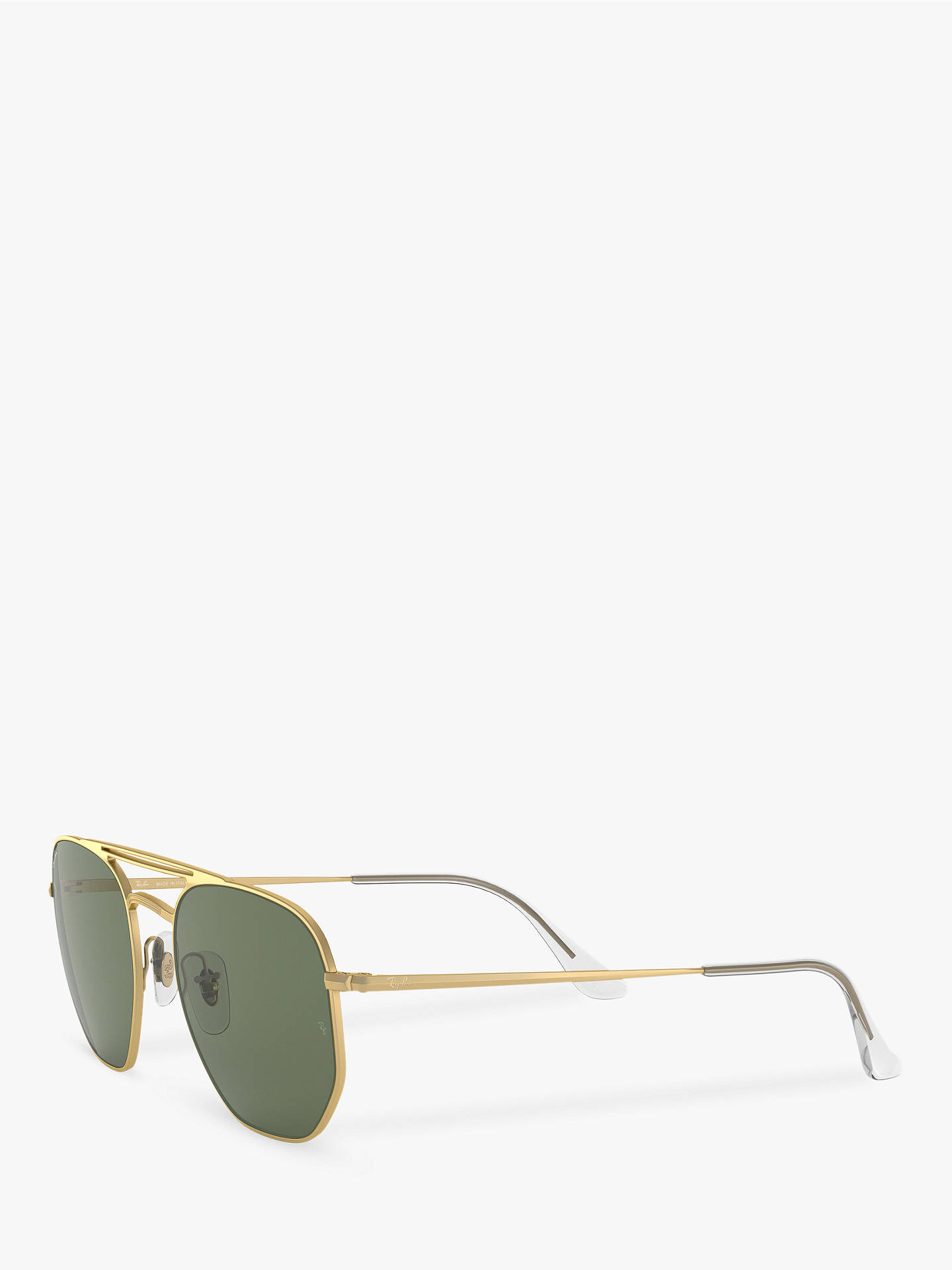 BuyRay-Ban RB3609 Unisex Square Sunglasses, Gloss Gold/Green Online at johnlewis.com