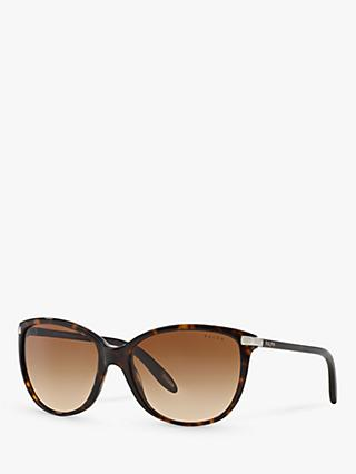 Polo Ralph Lauren RA5160 Women's Cat's Eye Sunglasses, Dark Tortoise/Brown Gradient