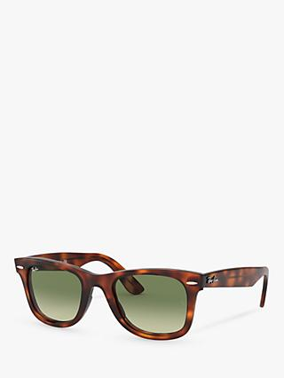 Ray-Ban RB4340 Wayfarer Sunglasses, Red Havana/Green Gradient