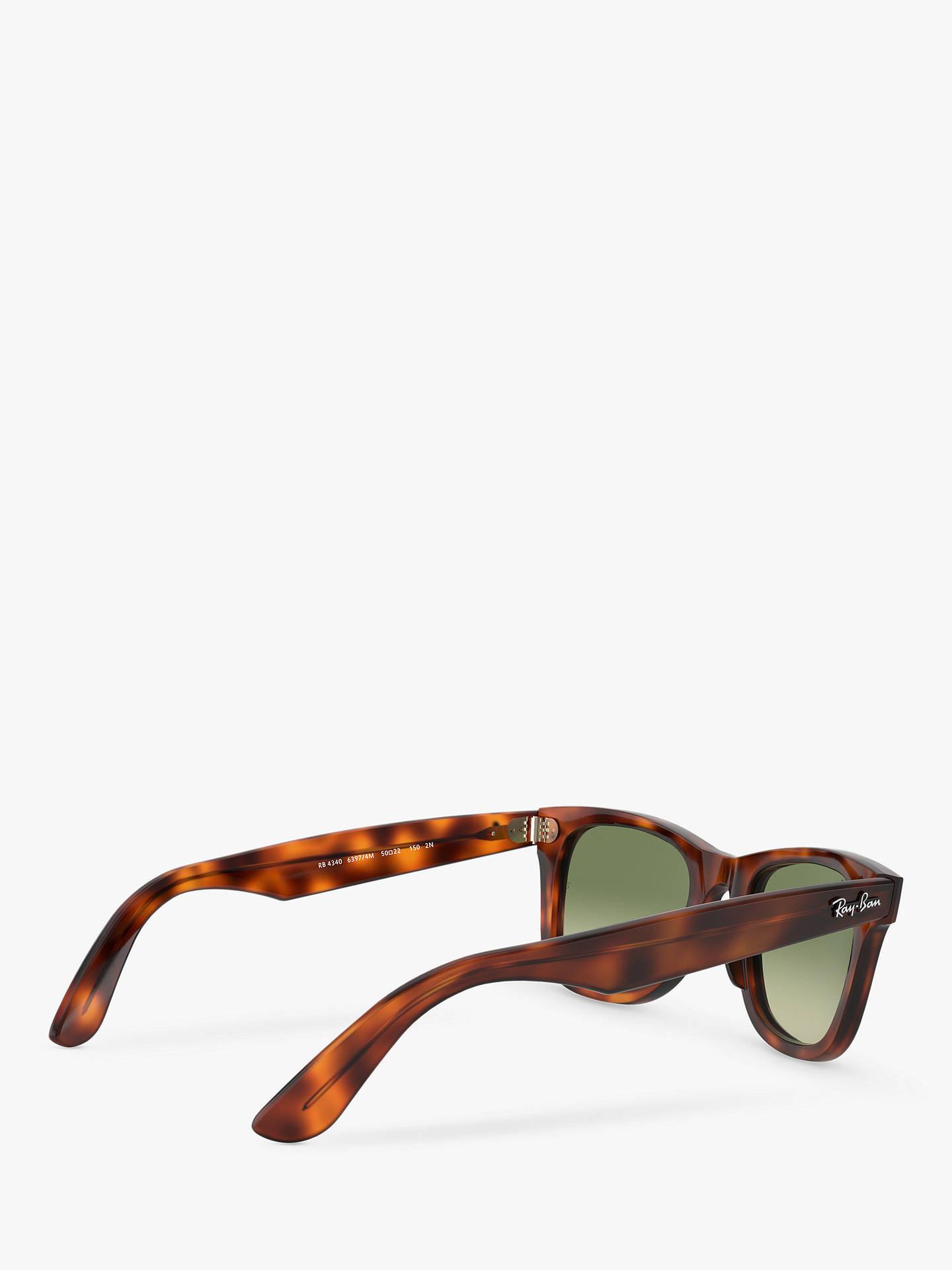 BuyRay-Ban RB4340 Wayfarer Sunglasses, Red Havana Green Gradient Online at  johnlewis. 3ecb67f6b7df
