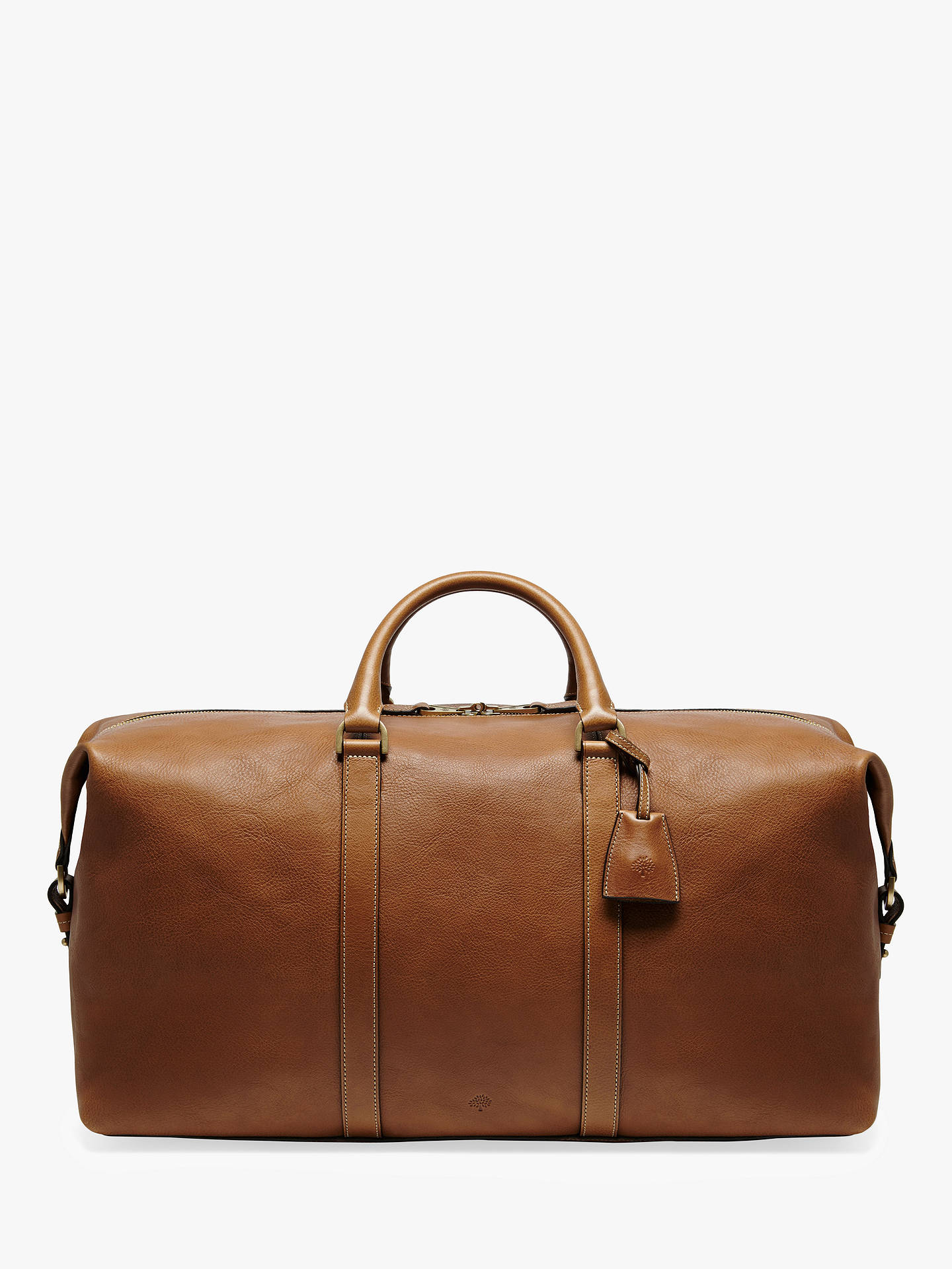 eac929349 Buy Mulberry Medium Clipper Natural Veg Tanned Leather Holdall, Oak Online  at johnlewis.com ...
