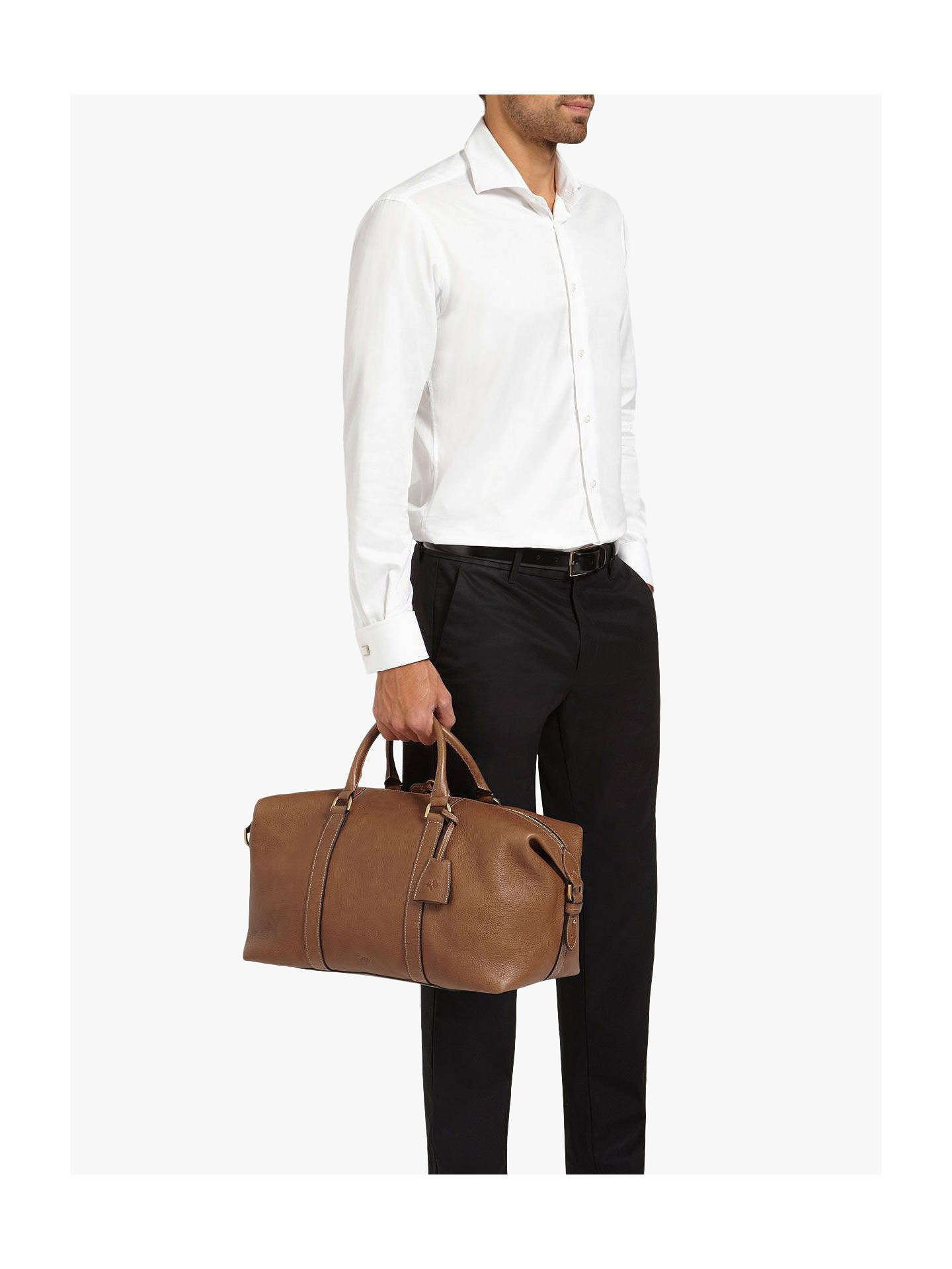 243660971 ... Buy Mulberry Medium Clipper Natural Veg Tanned Leather Holdall, Oak  Online at johnlewis.com
