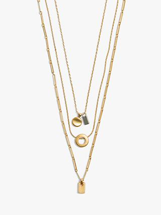 Madewell Mini Charm Layered Necklace, Gold
