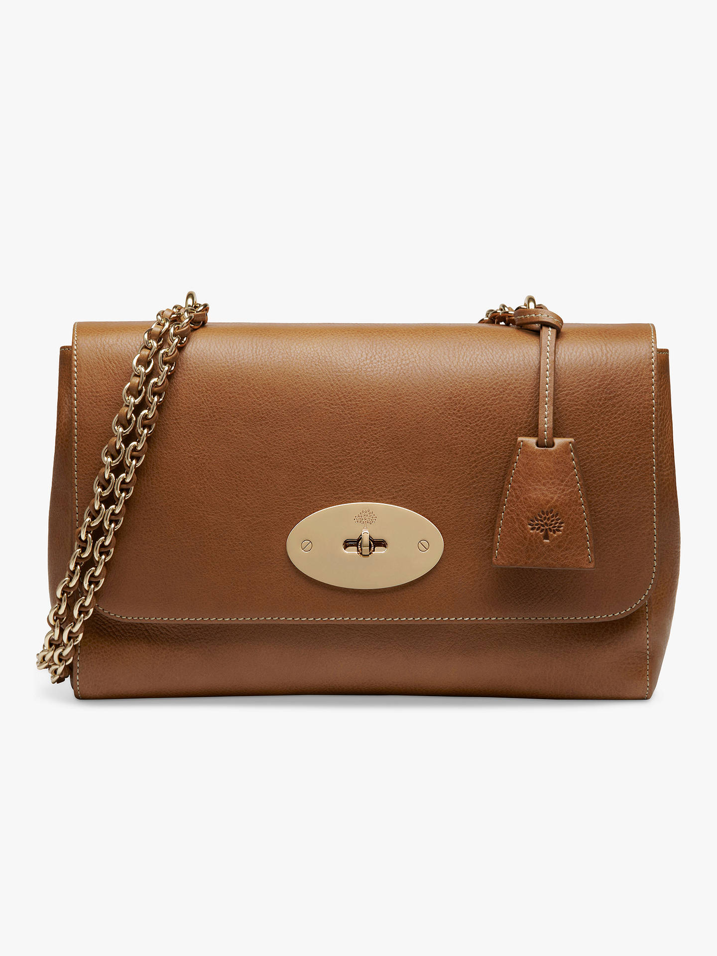 Mulberry Medium Lily Natural Veg Tanned Leather Cross Body Bag at ... e881862ba4f6e