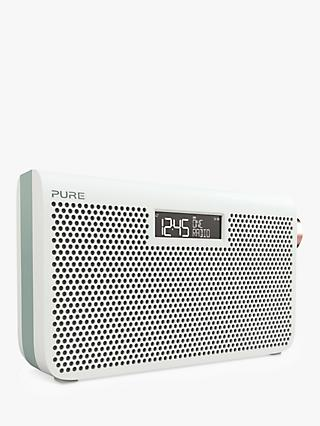 Pure One Maxi Series 3S DAB/DAB+/FM Portable Digital Radio, Jade White